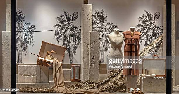 A Hermes window is seen as part of the World Fashion Window Displays on August 25 2016 in Paris France