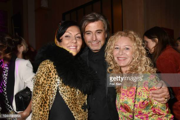 Hermine de Clermont Tonnerre Alexandre Zouari and Kathy Wolff attend the Avon Life Colour Party by Kenzo Fragrance Launch as part of the Paris...