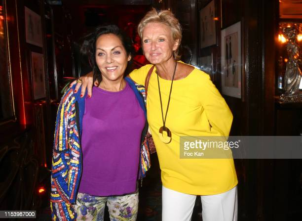 Hermine de Clermont Tonnerre and Princess Anne de Bourbon Siciles attend  Meme Si le Soleil Se Cache Anne of BourbonTwo Siciles book signing at...