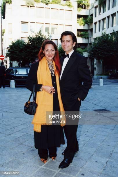 Hermine de Clermont Tonnerre et Alexandre Zouari le 3 juillet 2000 à Paris France