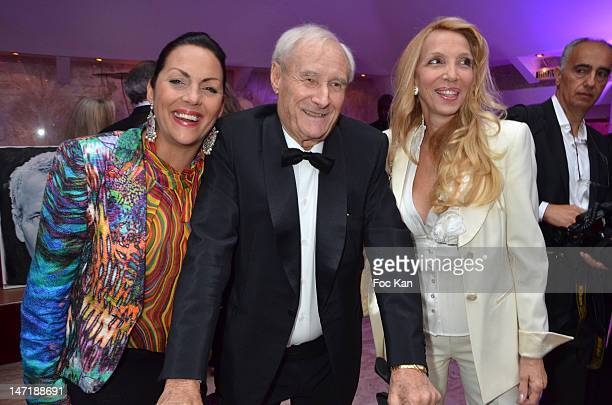 Hermine de Clermont Tonnerre Gerard De Villiers and Sylvie Elias attend the Chateau de Saint Cloud Gala Auction Dinner at the Salons Hoche on June 26...