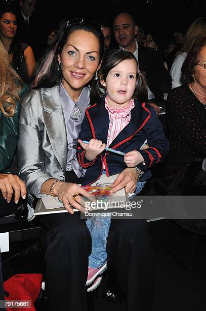 Hermine de ClermontTonnerre and Allegra attend the Elie Saab Fashion show during Paris Fashion Week SpringSummer 2008 at Grand Hotel on January 23...