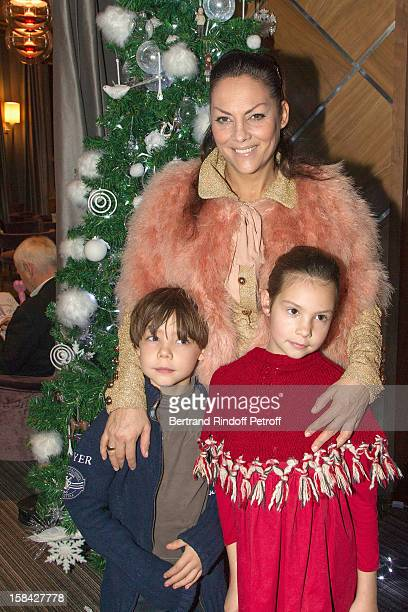 Hermine de ClermontTonnerre her children Calixte and Allegra attend Le Noel Des P'tits Cracks Christmas charity event for the benefit of children...