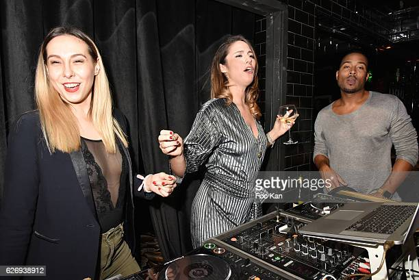 Hermine Prunier TV presenter Charlotte Namura and Jeanluc GuizonneÊfrom Star Academy attend Charlotte Namura and Clio Pajczer DJ Party at La Gioia in...
