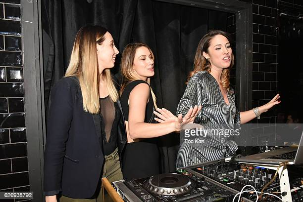 Hermine Prunier TV presenters Clio Pajczer and Charlotte Namura attend Charlotte Namura and Clio Pajczer DJ Party at La Gioia in VIP Room Theater on...
