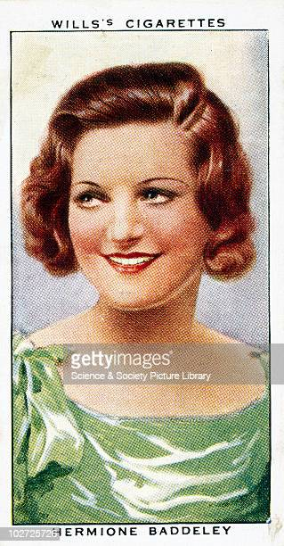 'Hermione Baddeley' cigarette card Wills' cigarette card from 'Radio Celebrities' 1934 Number 36 of the second series of portraits of people famous...