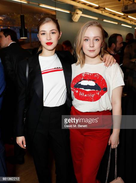 Hermione Corfield and Alexa Davies attend the INTO Film Awards at BFI Southbank on March 13 2018 in London England