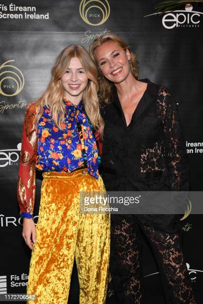 Hermione Corfield and Connie Nielsen attend prescreening cocktail reception for the world premiere film Sea Fever at Pick 6ix Sports on September 05...