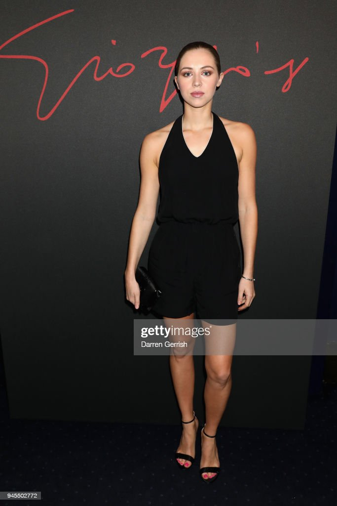 Hermione Corfield attends as Giorgio Armani hosts trunk show at the Giorgio's London event to celebrate the opening of the new Giorgio Armani and Armani/Casa boutiques on Sloane Street on April 12, 2018 in London, England.