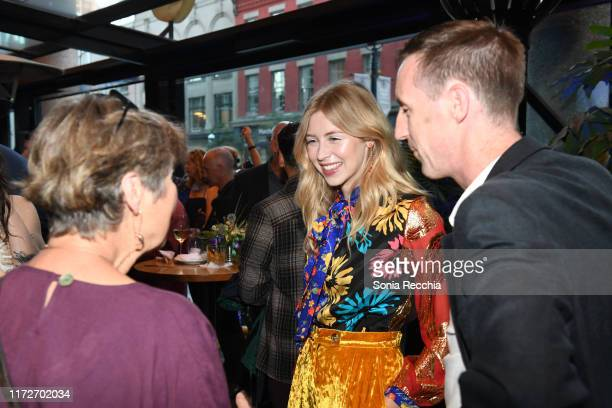 Hermione Corfield attends prescreening cocktail reception for the world premiere film Sea Fever at Pick 6ix Sports on September 05 2019 in Toronto...