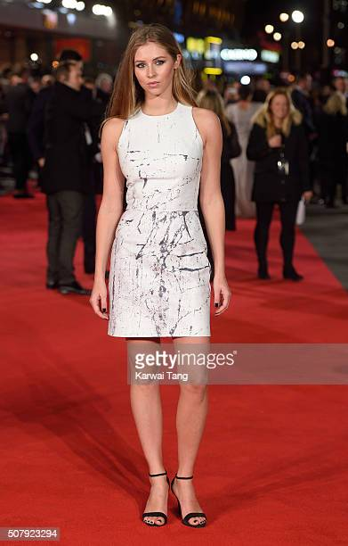 Hermione Corfield attends the European premiere of 'Pride And Prejudice And Zombies' at the Vue West End on February 1 2016 in London England