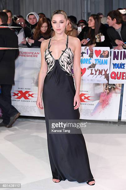 Hermione Corfield attends the European premiere of 'xXx Return of Xander Cage' at Cineworld 02 on January 10 2017 in London United Kingdom