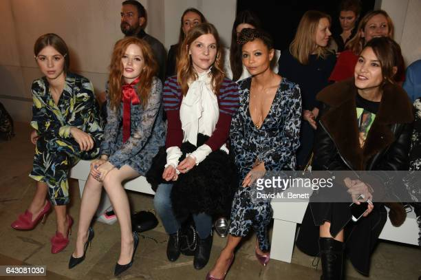 Hermione Corfield Ellie Bamber Clemence Poesy Thandie Newton and Alexa Chung attend the ERDEM show during the London Fashion Week February 2017...