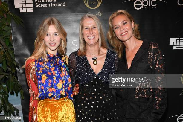 Hermione Corfield Neasa Hardiman and Connie Nielsen attend prescreening cocktail reception for the world premiere film Sea Fever at Pick 6ix Sports...