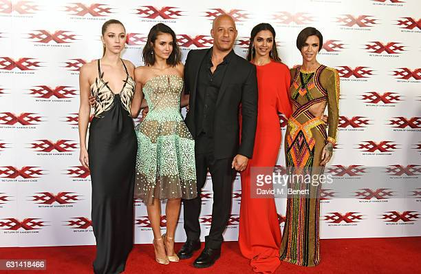 Hermione Corfield Nina Dobrev Vin Diesel Deepika Padukone and Ruby Rose attend the European Premiere of 'xXx' Return of Xander Cage' at The Cineworld...