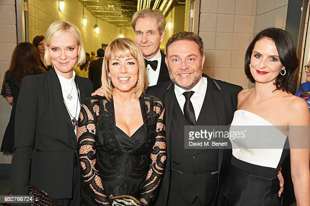 Hermione Norris Fay Ripley Robert Bathurst John Thomson and Leanne Best attend the National Television Awards cocktail reception at The O2 Arena on...