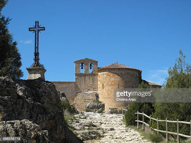 Hermitage and monastery of San Frutos begun in Romanesque style on an earlier Visigothic its foundation is attributed to San Frutos stands on a rocky...