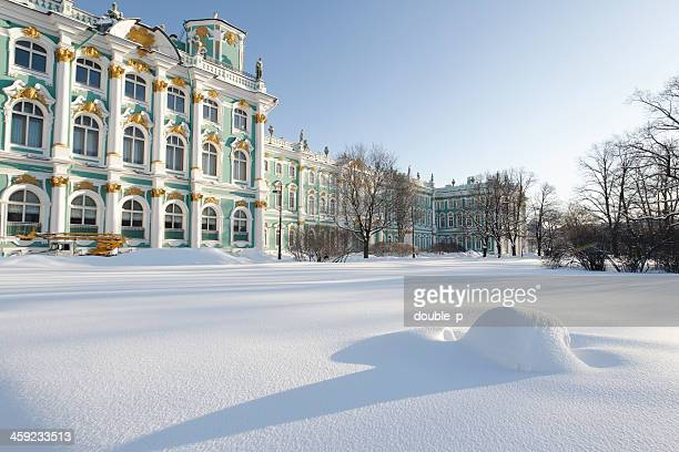 Hermitage in snow