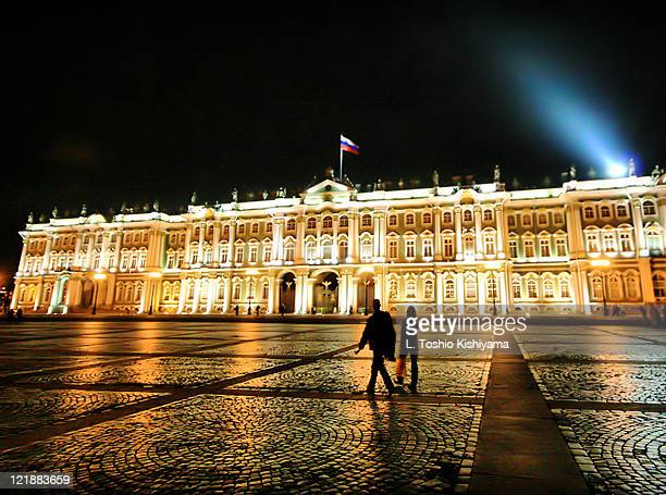 Hermitage Museum at night