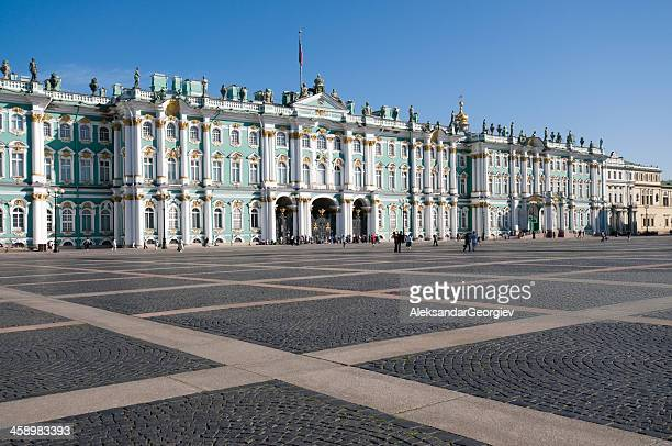 hermitage museum in st petersburg - winter palace st. petersburg stock photos and pictures