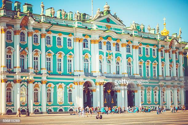 hermitage museum in st. petersburg - st. petersburg russia stock photos and pictures