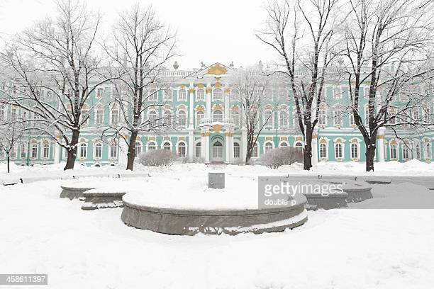 hermitage museum - winter palace st. petersburg stock photos and pictures