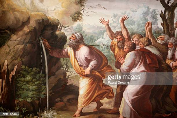 Hermitage Museum. The loggia of Raphael. Moses strikes water from the stone