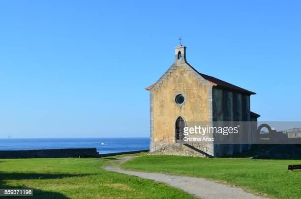Hermitage of Santa Catalina on 18 June 2017 Mundaka Vizcaya Basque Country Spain