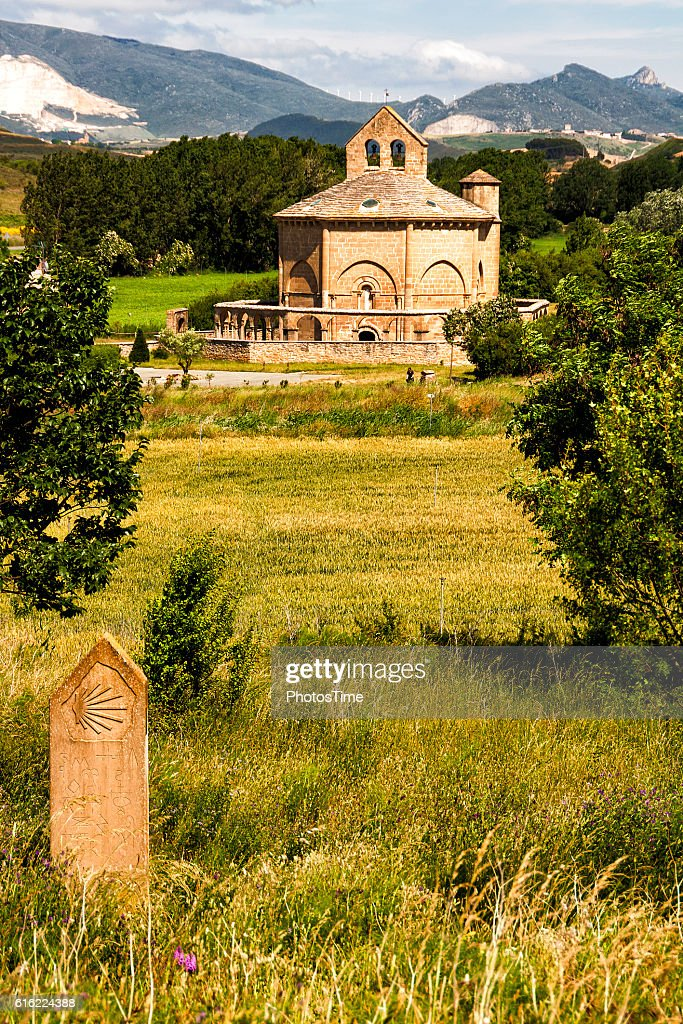 Hermitage Saint Mary of Eunate, Road to Santiago de Compostela : Stockfoto