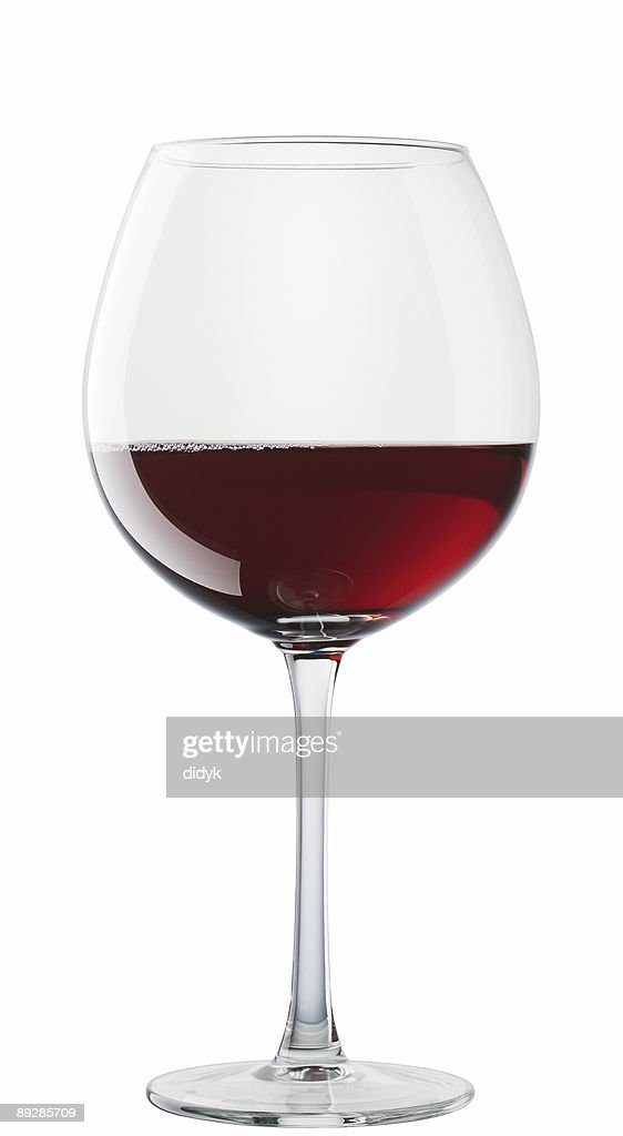 Hermitage wine glass isolated on white background : Stock Photo