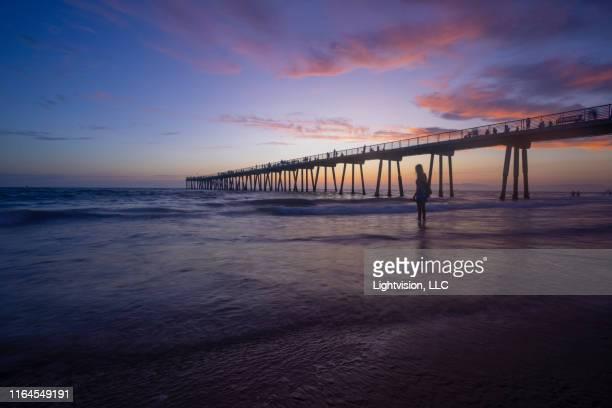 hermosa beach pier, california - hermosa beach stock pictures, royalty-free photos & images