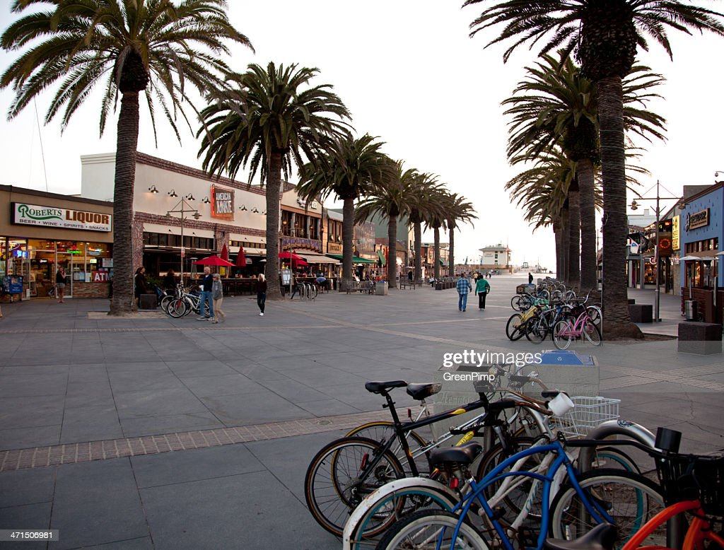 Hermosa Beach Pier Plaza Stock Photo