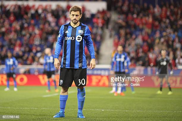 Hernan Bernardello of Montreal Impact during the New York Red Bulls Vs Montreal Impact MLS playoff match at Red Bull Arena Harrison New Jersey on...