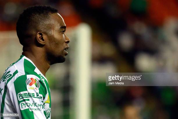 Hernan Burbano of Leon looks on during the 12th round match between Leon and Lobos BUAP as part of the Torneo Clausura 2018 Liga MX at Leon Stadium...