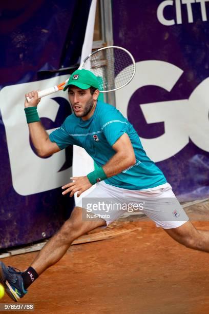 Hernan Casanova during match between Thiago Monteiro and Hernan Casanova during day 4 at the Internazionali di Tennis Citt dell'Aquila in L'Aquila,...