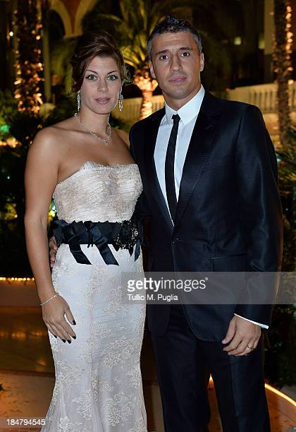 Hernan Crespo and wife attend the Golden Foot Award 2013 ceremony at MonteCarlo Bay Hotel on October 16 2013 in MonteCarlo Monaco