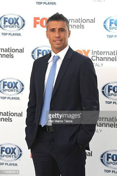 Hernan Crespo attends a Fox International Channels press conference to present Fox Sports on July 31 2013 in Milan Italy
