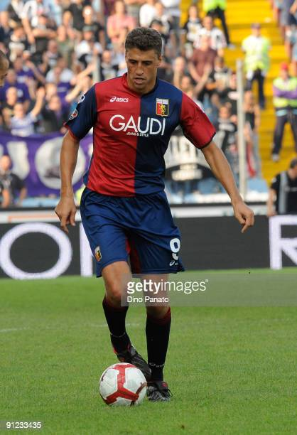 Hernan Crespo of Genoa CFC in action during the Serie A match between Udinese Calcio and Genoa CFC at Stadio Friuli on September 27 2009 in Udine...