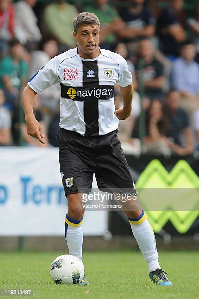 Hernan Crespo of Parma FC in action during a preseason friendly match between Parma FC and Rappesentativa Trentino on July 17 2011 in Levico Terme...