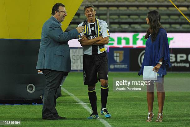 Hernan Crespo of Parma FC prior to the pre season friendly match between Parma FC and Levante at Stadio Ennio Tardini on August 12 2011 in Parma Italy
