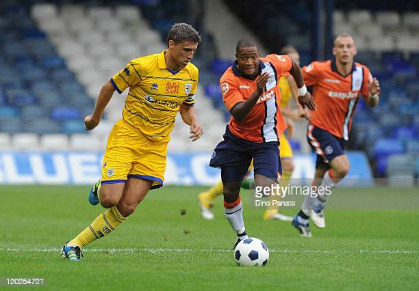 Hernan Crespo of Parma in action during a pre season friendly match between Luton Town and FC Parma at Kenilworth Road on August 2 2011 in Luton...