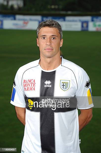 Hernan Crespo of Parma poses during the official Parma FC headshots session on July 28 2011 in Levico near Trento Italy