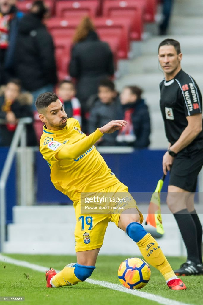 Hernan Dario Toledo of UD Las Palmas in action during the La Liga 2017-18 match between Atletico de Madrid and UD Las Palmas at Wanda Metropolitano on January 28 2018 in Madrid, Spain.