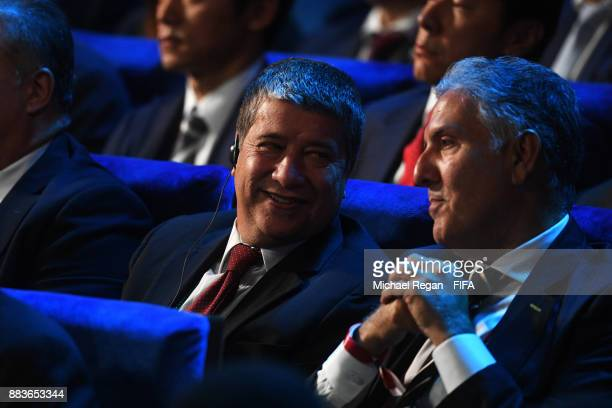 Hernan Gomez Manager of Panama during the Final Draw for the 2018 FIFA World Cup Russia at the State Kremlin Palace on December 1 2017 in Moscow...