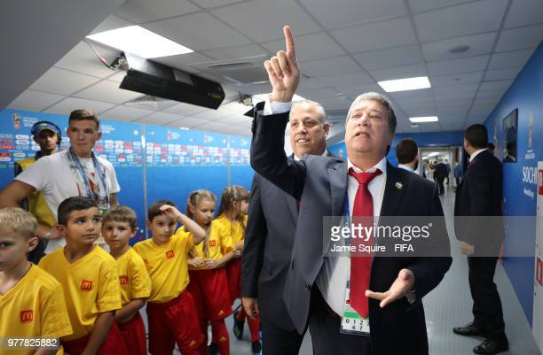 Hernan Gomez Manager of Panama makes his way down the tunnel prior to the 2018 FIFA World Cup Russia group G match between Belgium and Panama at...