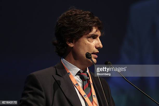 Hernan Lacunza Buenos Aires minister of economy speaks during the 50th Anniversary Federation of Latin American Banks Annual Assembly in Buenos Aires...