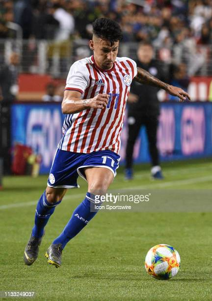 Hernan Perez of Paraguay during the International Friendly Match between Mexico and Paraguay at Levi's Stadium on March 26 2019 in Santa Clara CA