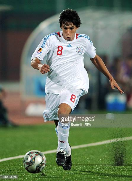Hernan Perez of Paraquay during the FIFA U20 World Cup Group A match between Trinidad and Tobago and Paraguay at the Al Salam Stadium on October 1...