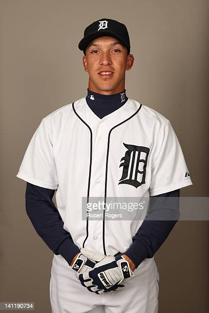 Hernan Perez of the Detroit Tigers poses during Photo Day on Tuesday February 28 2012 at Joker Marchant Stadium in Lakeland Florida
