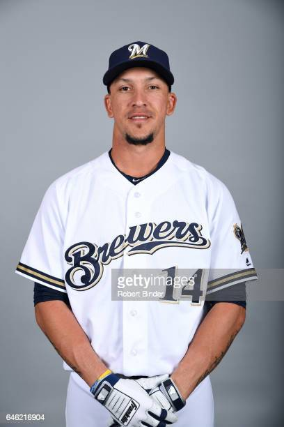 Hernan Perez of the Milwaukee Brewers poses during Photo Day on Wednesday February 22 2017 at Maryvale Baseball Park in Phoenix Arizona
